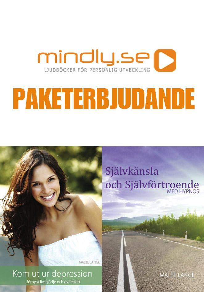mindly.se Kom ut ur depression + Självkänsla och självförtroende med hypnos (Paketerbjudanden)