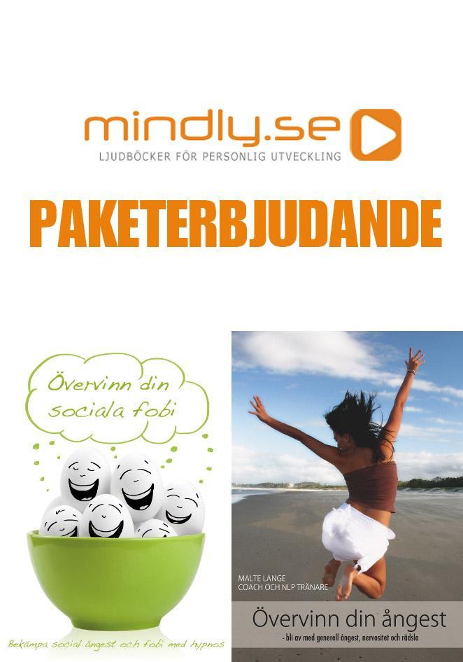 mindly.se Övervinn din ångest + Övervinn din sociala fobi + Fri från panikångest och panikattacker (Paketerbjudande)