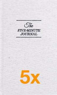 5 x The Five Minute Journal (Paketerbjudanden)