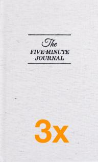 3 x The Five Minute Journal (Paketerbjudanden)